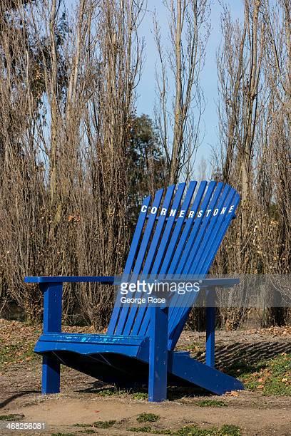 The entrance to Cornerstone Retail Outlet featuring a giant Adirondack chair is viewed on January 9 near Sonoma California With 2013 the driest year...