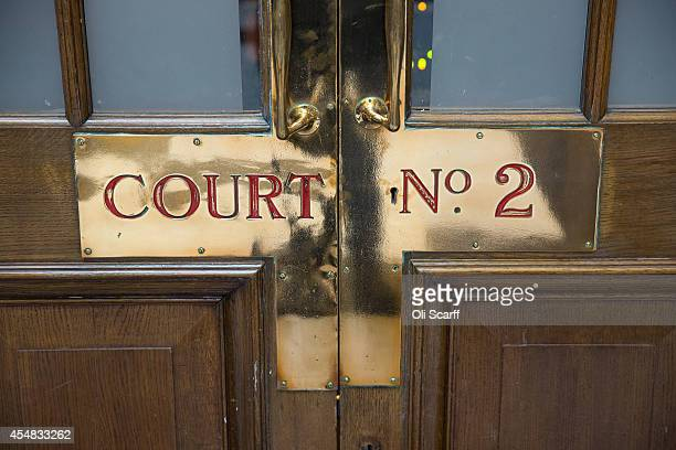 The entrance to Court Two in the Grand Hall of the Central Criminal Court known as the 'Old Bailey' on September 3 2014 in London England The Old...
