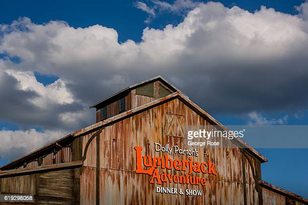The entrance to Dolly Parton's Lumberjack Adventure located on The Parkway is viewed on October 18 2016 in Pigeon Forge Tennessee Located near the...