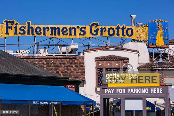 The entrance to Fisherman's Grotto Seafood Restaurant at Fisherman's Wharf is viewed on April 15 in San Francisco California Some 136 million...