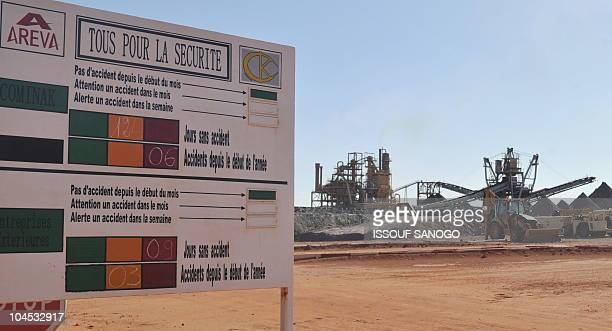 The entrance to France's stateowned nuclear giant Areva's uranium mine on September 26 2010 in Arlit Gunmen seized seven prisoners five French...