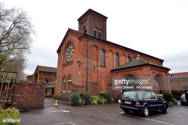 The entrance to Golders Green Crematorium London from where thieves have tried to steal the ashes of the founder of psychoanalysis Sigmund Freud and...