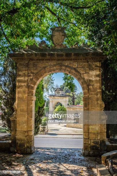 the entrance to gonzalez byass tio pepe bodegas in jerez spain - finn bjurvoll stock pictures, royalty-free photos & images
