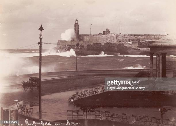 The entrance to Havana harbour in a storm This is no official date for this image circa 190020 Cuba 1900