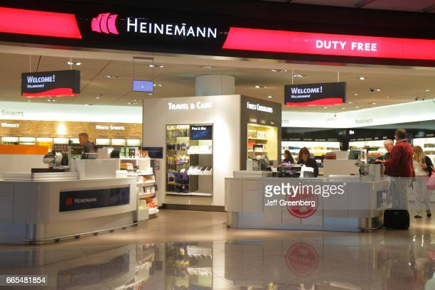 The entrance to Heinemann Duty Free store at Frankfurt am Main Airport