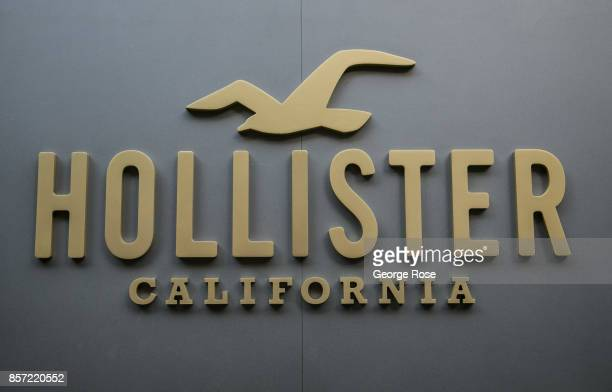 The entrance to Hollister California clothing store off Regent Street is viewed on September 13 in London England Great Britain's move toward...