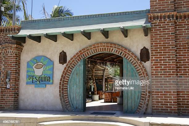 The entrance to La Esquina restaurant in Todos Santos Pueblo Magico Baja California Sur Mexico