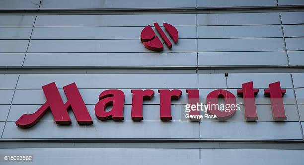 The entrance to Marriott's Hotel at London Heathrow International Airport on Bath Road is viewed on September 12 in London England The collapse of...