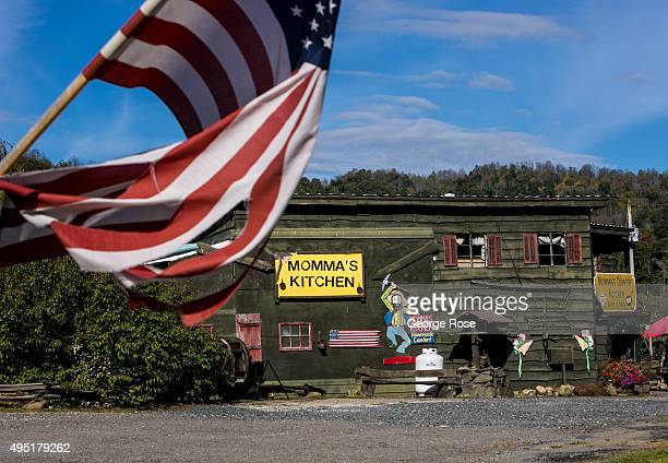 The entrance to Momma's Kitchen is viewed on October 8 2015 near Hot Springs North Carolina Named one of the 'Top 10 Great Places to Retire' by AARP...