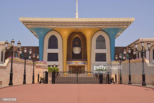 CONTENT] The entrance to Oman's sultans' home in the capital of Oman Muscat The Al Alam palace in old Muscat is the ceremonial palace of the Oman...