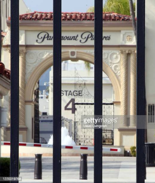 The entrance to Paramount Studios is seen during the coronavirus pandemic on April 20, 2020 in Los Angeles, California. COVID-19 has spread to most...