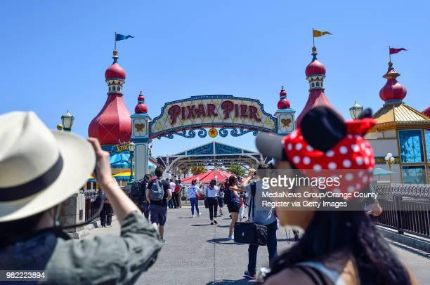 The entrance to Pixar Pier at Disney California Adventure Park in Anaheim CA on Thursday June 21 2018