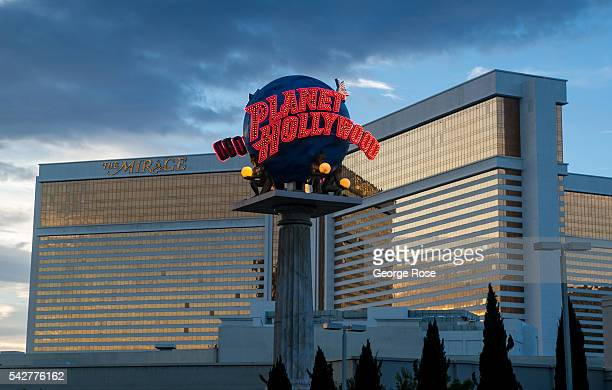 The entrance to Planet Hollywood restuarant is located in front of the Mirage Hotel Casino as viewed on June 9 2016 in Las Vegas Nevada Tourism in...