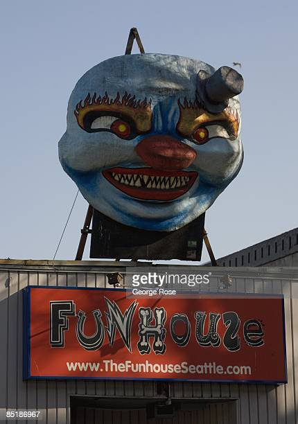The entrance to Seattle's Fun House is is seen in this 2009 Seattle Washington city landscape photo