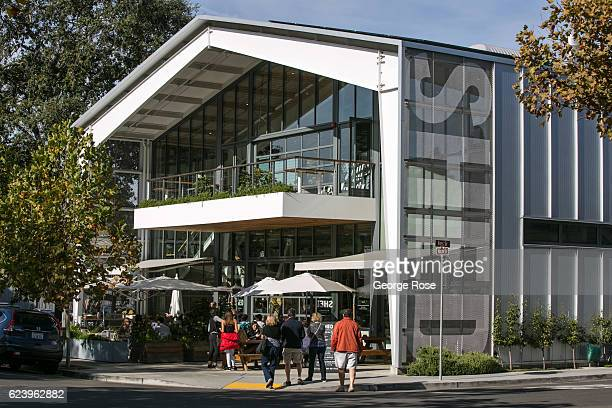 The entrance to SHED a restaurant and retail store near The Plaza is viewed on November 4 in Healdsburg California After a relatively normal rainy...