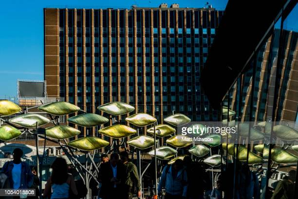 the entrance to stratford centre in the london borough of newham - stratford london stock pictures, royalty-free photos & images