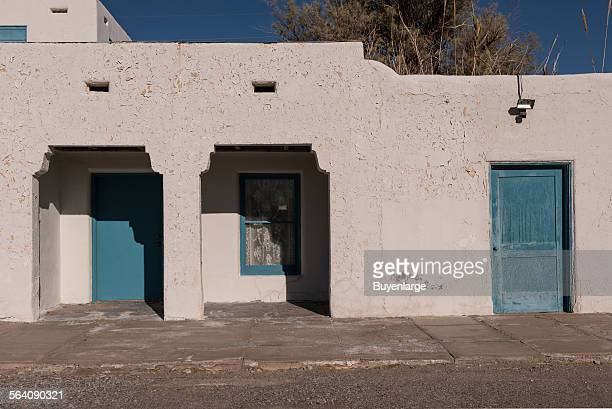 The entrance to the Amargosa Opera House adjacent to the Amagosa Hotel in Death Valley Junction just outside Death Valley National Park in Inyo...
