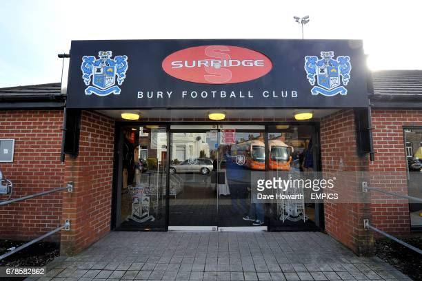 The entrance to the Bury FC club shop