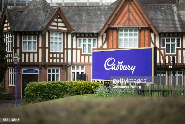 The entrance to the Cadbury factory in Bournville on April 5 2017 in Birmingham United Kingdom The Cadbury name is synonymous with chocolate...