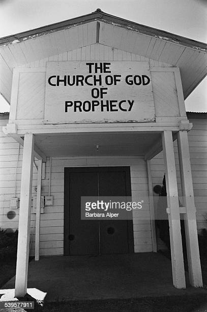 The entrance to The Church of God of Prophecy in Willits California 26th July 1979