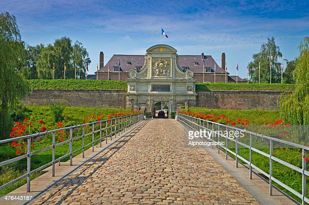 the entrance to the citadel in lille france - lille stock pictures, royalty-free photos & images