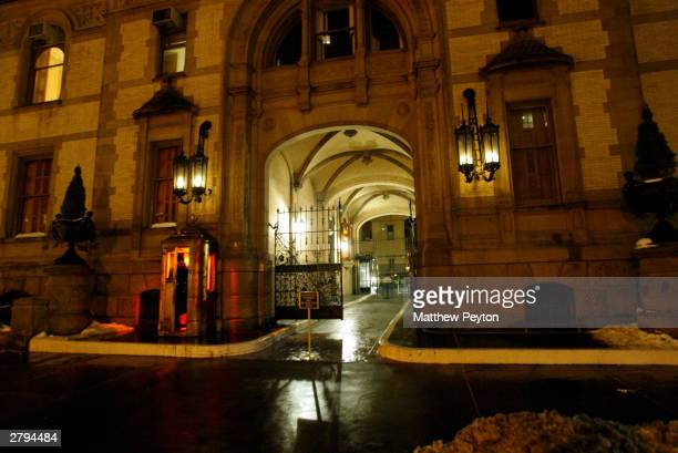 The entrance to the Dakota apartment building is seen on the 23rd anniversary of musician John Lennon's death December 8 2003 in New York City