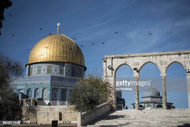 The entrance to the Dome of The Rock stands on Temple Mount in the Old City in Jerusalem Israel on Sunday Dec 17 2017 The United Nations Security...