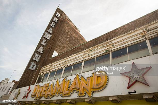 The entrance to the Dreamland amusement park site on June 18 2015 in Margate England Dreamland is considered to be the oldestsurviving amusement park...