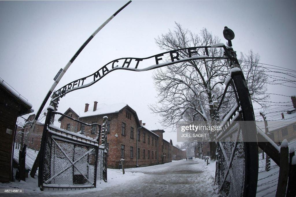 POLAND-GERMANY-HISTORY-JEWS-AUSCHWITZ-ANNIVERSARY : News Photo