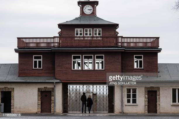 The entrance to the former Nazi concentration camp Buchenwald near Weimar eastern Germany is pictured on January 27 2020 A ceremony took place at the...