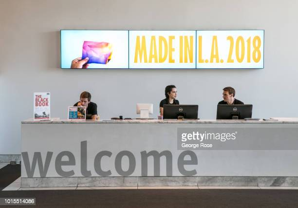 The entrance to the Hammer Museum located on Wilshire Blvd in Westwood Village is viewed on August 7 2018 in Los Angeles California Millions of...