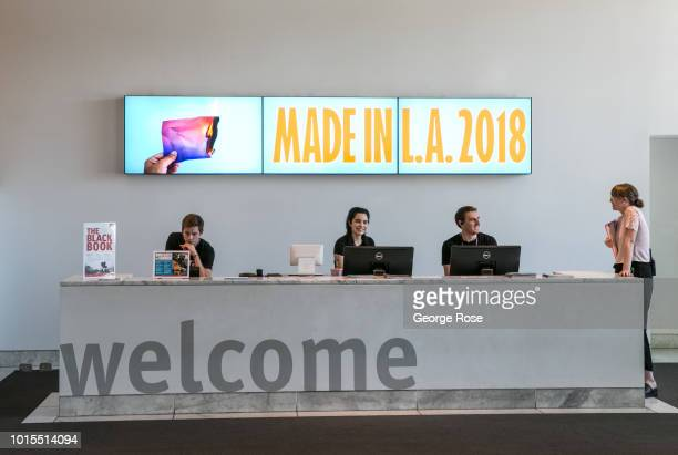The entrance to the Hammer Museum, located on Wilshire Blvd in Westwood Village, is viewed on August 7, 2018 in Los Angeles, California. Millions of...