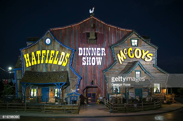 The entrance to the Hatfields McCoys Dinner Show theater located on the Parkway across from The Wonderworks is viewed on October 18 2016 in Pigeon...