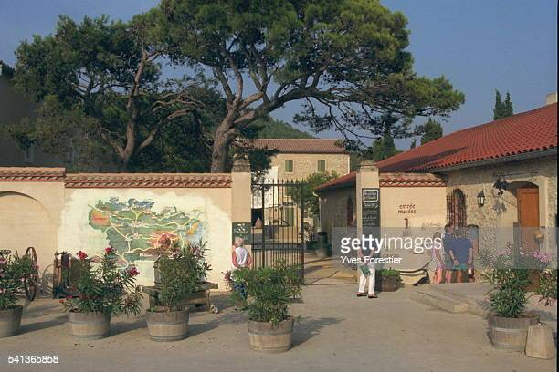 The entrance to the Hospitalet wine growing estate