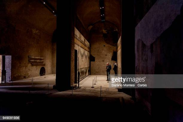 The entrance to the house of Livia wife of Augustus on the Palatino Hill in the Ancient Roman Forum on April 20 2018 in Rome Italy Presented to the...