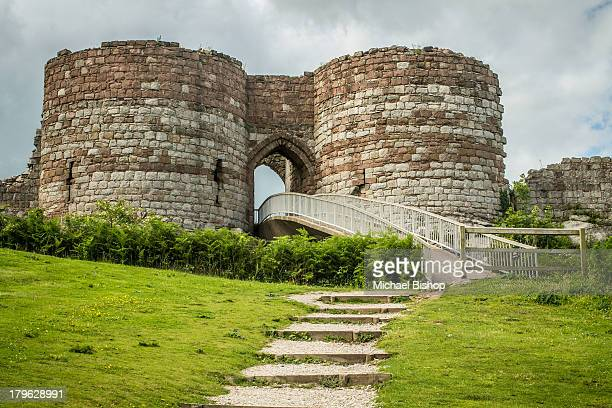 The entrance to the keep area at Beeston Castle, in Cheshire, UK. It contains a rather steep bridge that could be troublesome in bad weather. Beeston...