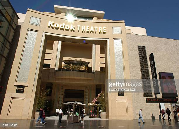 The entrance to the Kodak Theatre is shown, on Hollywood Boulevard, in Los Angeles, CA, 06 February 2002. The 3300-seat theater will host the Academy...