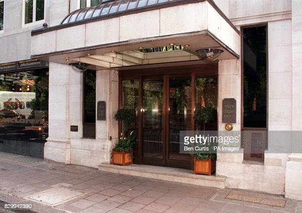 The entrance to the luxury block of flats in Park Lane London where Dodi Fayed lives Speculation about the relationship between Diana Princess of...