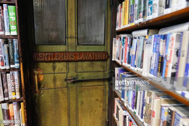 The entrance to the men's toilet is tucked away between bookshelves inside the Leeds Library on January 9 2018 in Leeds England This year sees the...