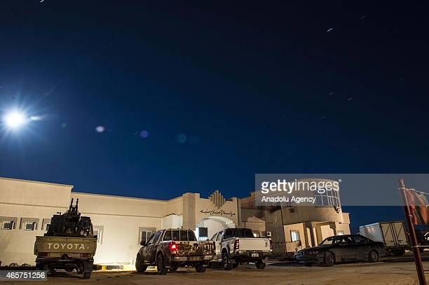 The entrance to the Milita prison where prisoners of war war kept is seen in the Libyan town of Zliten on March 4 2015