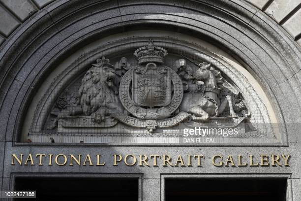 The entrance to the National Portrait Gallery is pictured in central London on August 24 2018