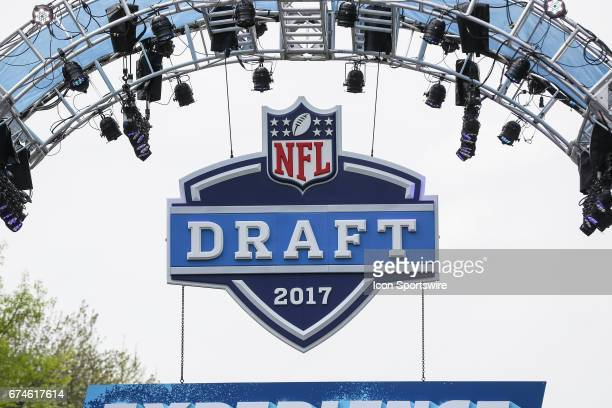 The entrance to the NFL Draft experience on April 27 2017 in Philadelphia PA