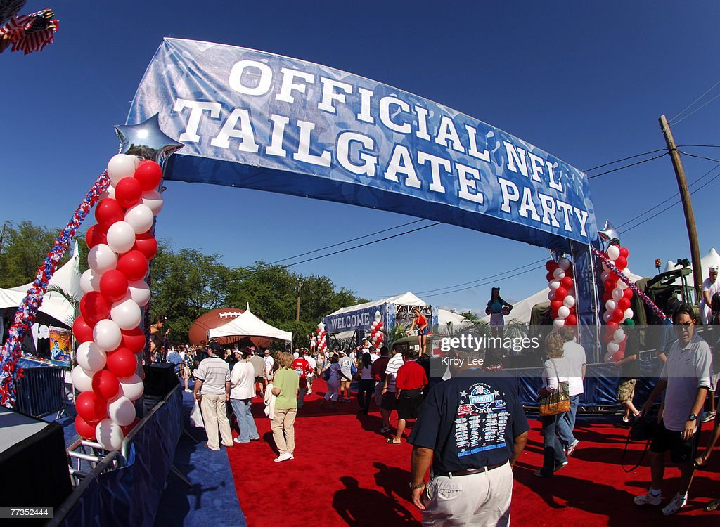 The entrance to the NFL Pro Bowl Tailgate Party at Aloha Stadium in