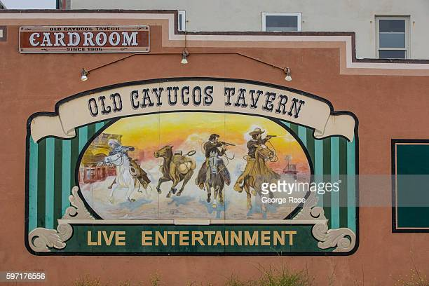 The entrance to the Old Cayucos Tavern and Cardroom is viewed on August 13 in Cayucos, California. Because of its close proximity to Southern...