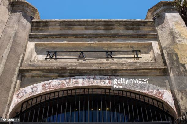 The entrance to the Old Slave Mart Charleston South Carolina it was built in 1859 and is believed to be the site of the last slave auction facility...