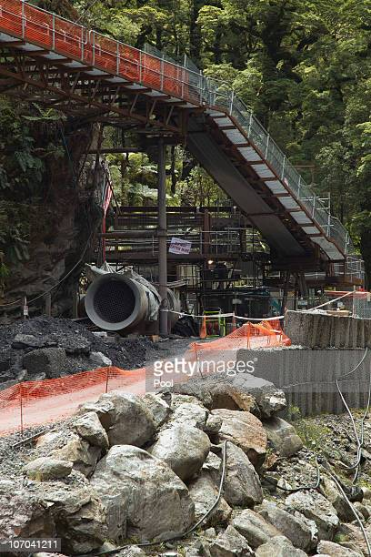 The entrance to the Pike River Coal mine is seen on November 21, 2010 in Greymouth, New Zealand. Ambulance and emergency crews are on site at the...