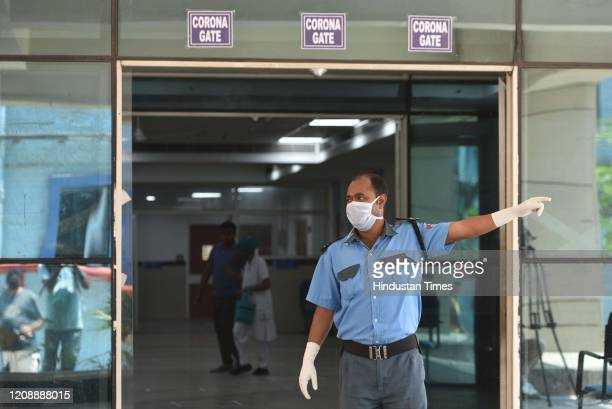 The entrance to the secial coronavirus clinic at the Medical College and Hospital on day 8 of the 21 day nationwide lockdown imposed by PM Narendra...