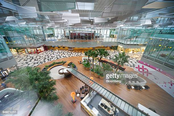 The entrance to the transit area of Changi Airport's new Terminal 3 is seen in Singapore on Wednesday Jan 2 2008 Terminal 3 will begin operating on...