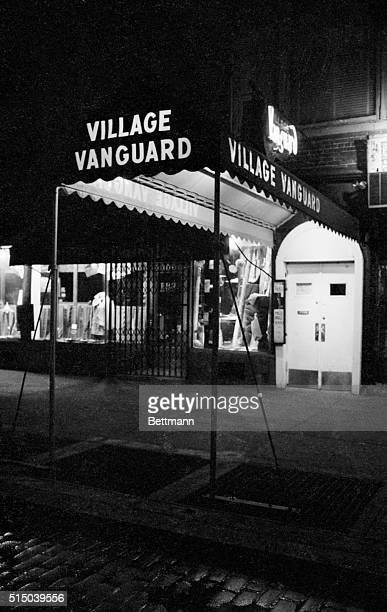 The entrance to the Village Vanguard night club in Greenwich Village