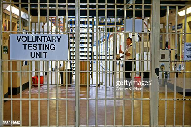 The entrance to the Voluntary Drug Testing Unit HMP Wandsworth London United Kingdom
